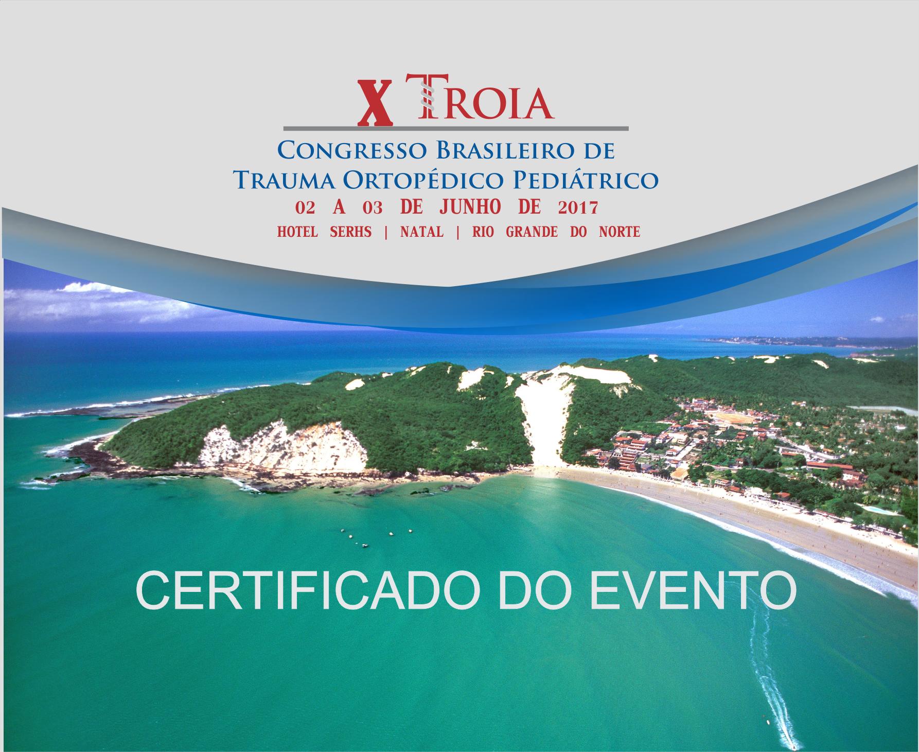 Certificado de participação TROIA