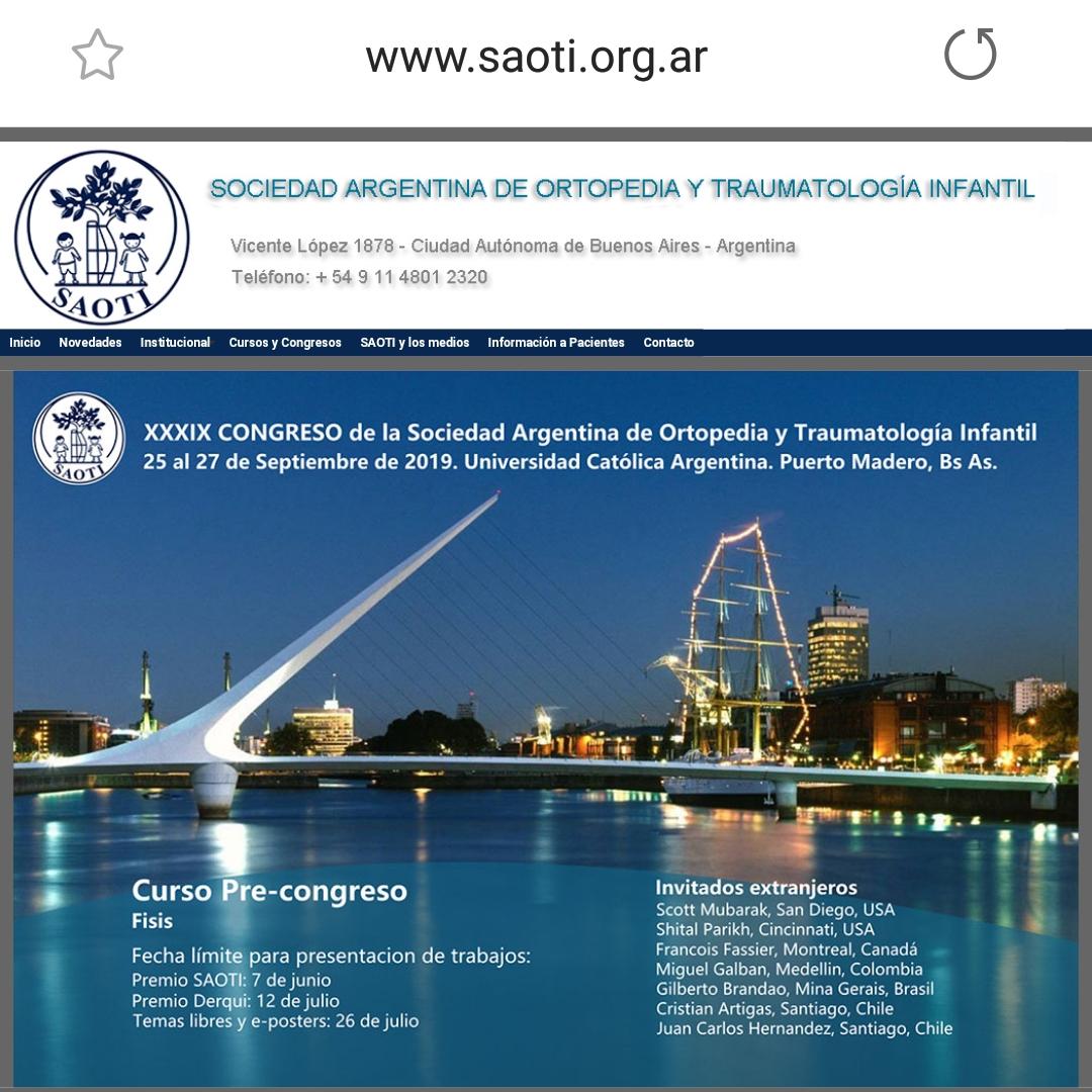 Congresso SAOTI 25 a 27 de Setembro/2019